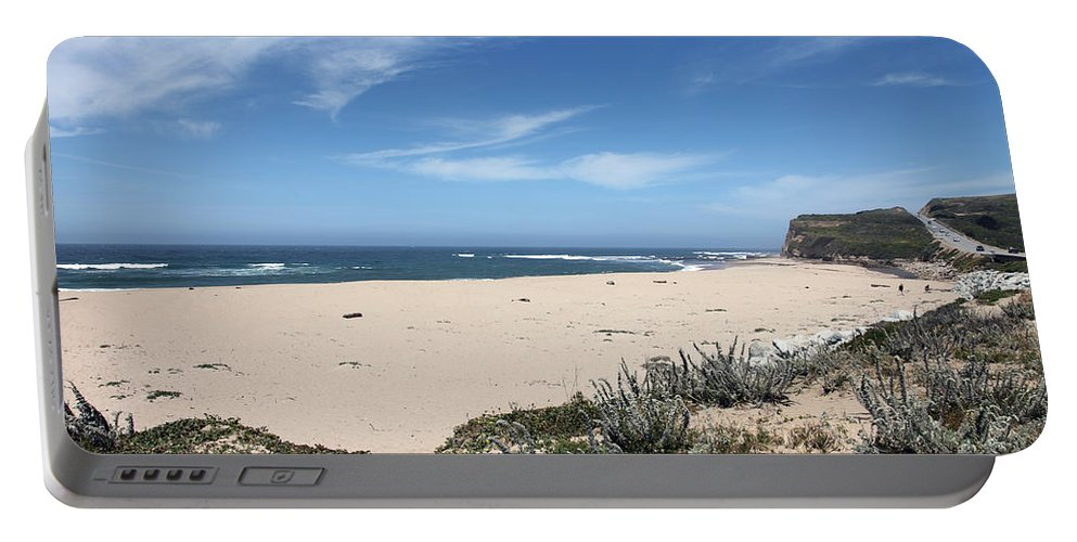 Beaches Portable Battery Charger featuring the photograph Scott Creek Beach Hwy 1 by Amanda Barcon