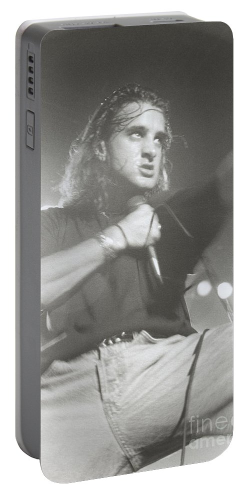 Roseland Ballroom Nyc New York City Scott Stapp Creed 1998 9/15/98 Bloomrosen Portable Battery Charger featuring the photograph Scott Stapp Of Creed by J Bloomrosen