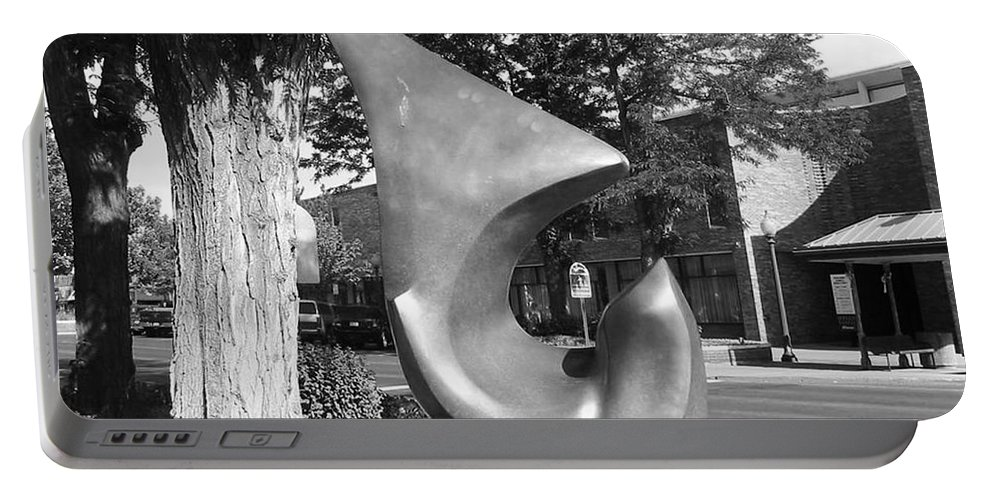 Sculpture Grand Junction Portable Battery Charger featuring the photograph Sculpture Grand Junction Co by Tommy Anderson