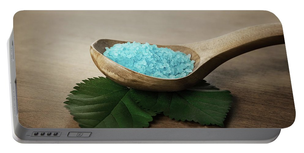 Aroma Portable Battery Charger featuring the photograph Sea Bath Salt by IPolyPhoto Art