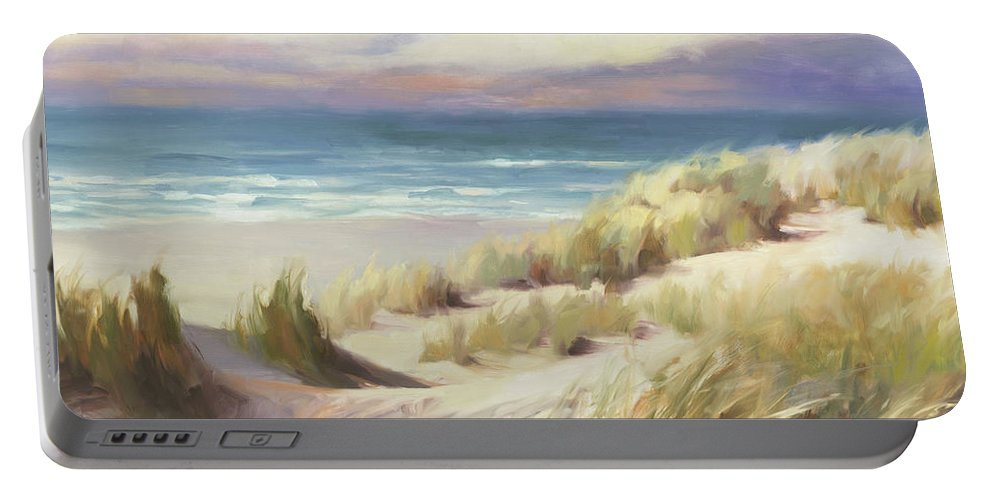 Ocean Portable Battery Charger featuring the painting Sea Breeze by Steve Henderson