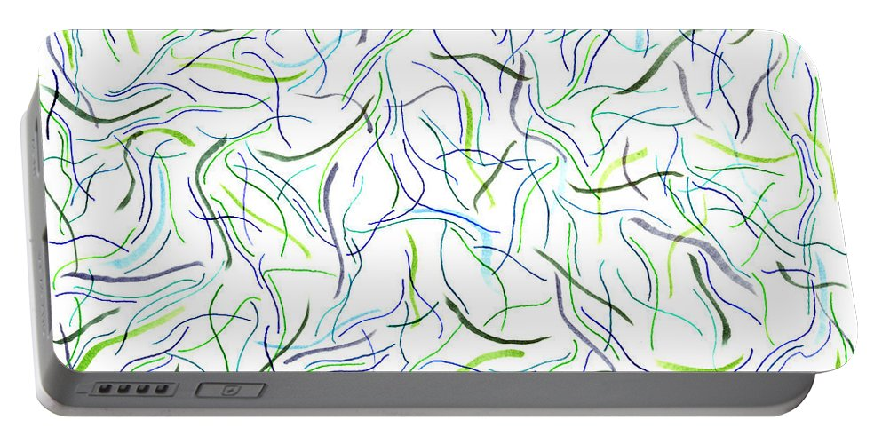 Mazes Portable Battery Charger featuring the drawing Sea Life by Steven Natanson
