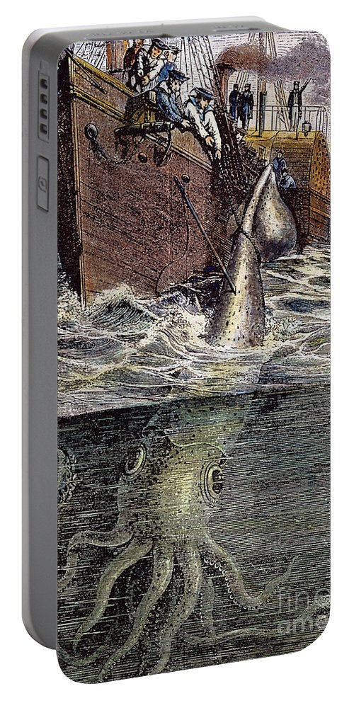 19th Century Portable Battery Charger featuring the photograph Sea Monster by Granger