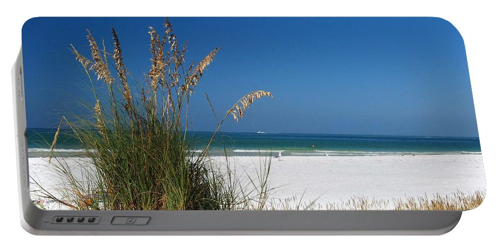 Sea Oats Portable Battery Charger featuring the photograph Sea Oats by Gary Wonning