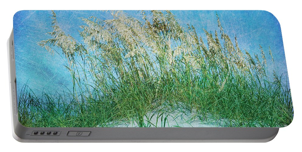 Sea Oats Portable Battery Charger featuring the photograph Sea Oats Two by Guy Crittenden