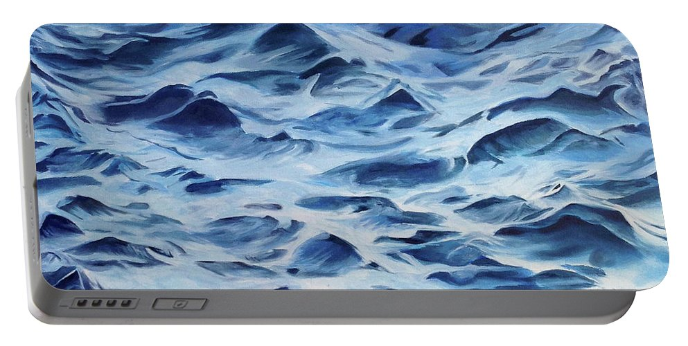 Water Portable Battery Charger featuring the painting Sea Rhythms by Mackenzie Matthews