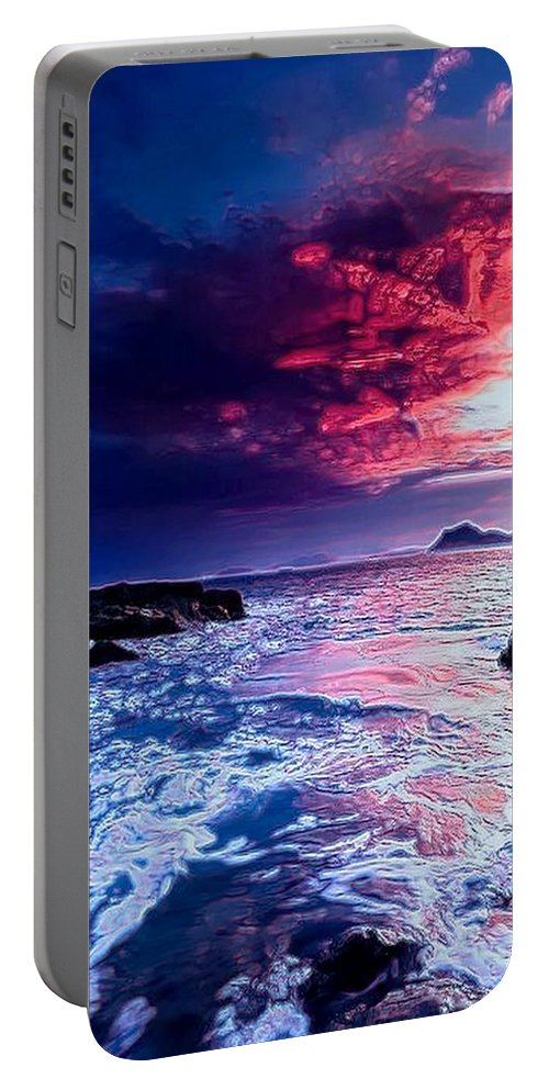 Seascape Portable Battery Charger featuring the digital art Sea Scape by Michael Todd