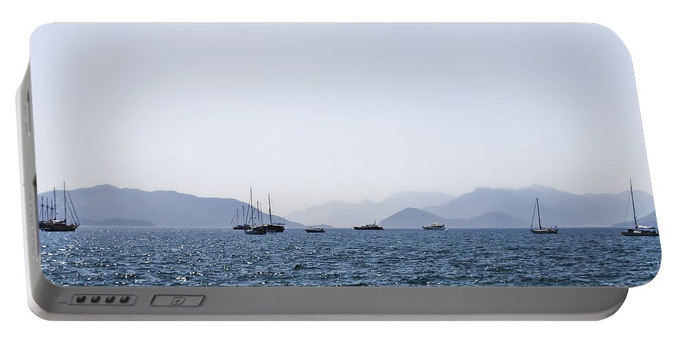 Boat Portable Battery Charger featuring the photograph Sea Stroll by Svetlana Sewell