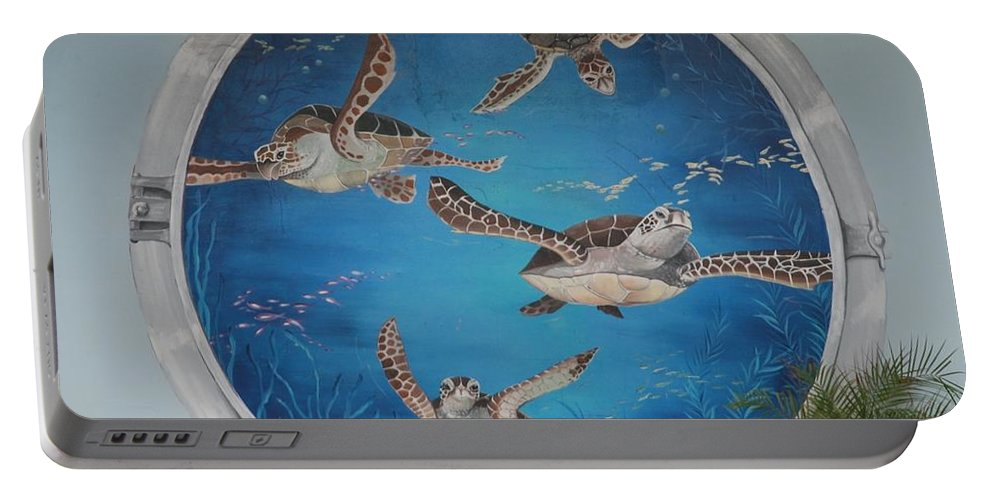 Sea Turtles Portable Battery Charger featuring the photograph Sea Turtles by Rob Hans