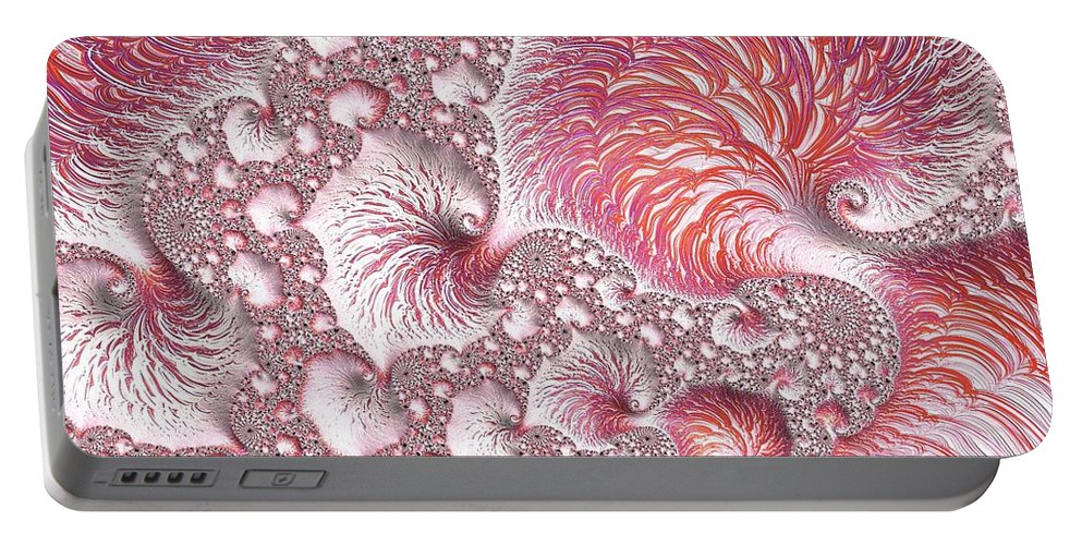 Sea Portable Battery Charger featuring the digital art Seafoam by Mary Ann Seymour
