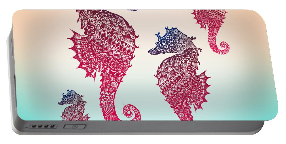 Seahorse Portable Battery Charger featuring the photograph Seahorse by Mark Ashkenazi