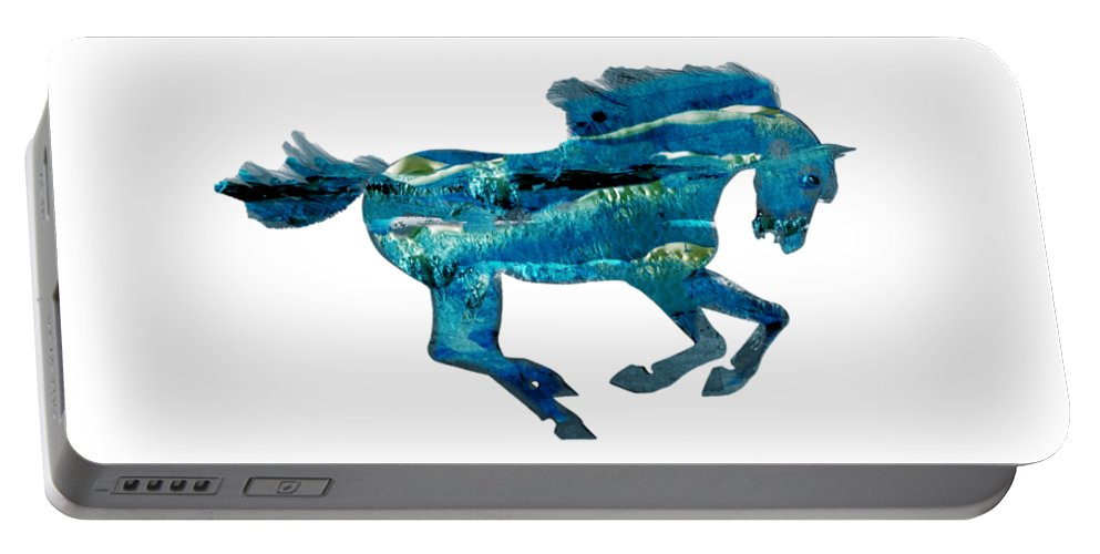 Horse Portable Battery Charger featuring the painting Seahorse By V.kelly by Valerie Anne Kelly