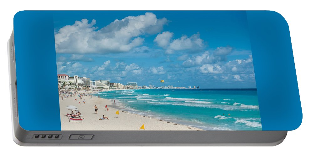 Search Vacations Online Portable Battery Charger featuring the sculpture Search Vacations Online by Search Vacations Online