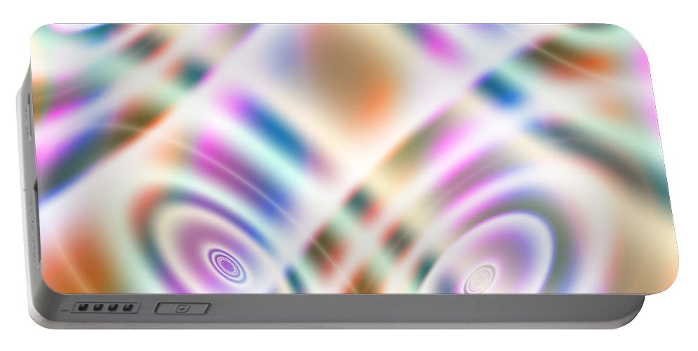 Art Portable Battery Charger featuring the digital art Searchlights by Candice Danielle Hughes