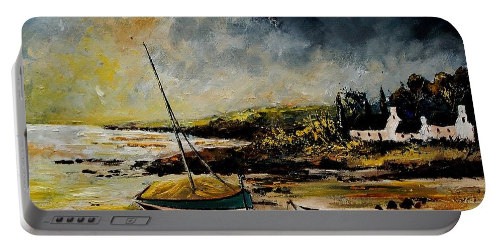 Sea Portable Battery Charger featuring the painting Seascape 452654 by Pol Ledent