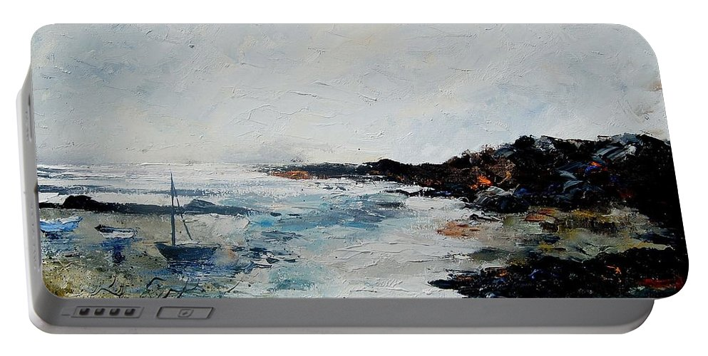 Sea Portable Battery Charger featuring the painting Seascape 68 by Pol Ledent