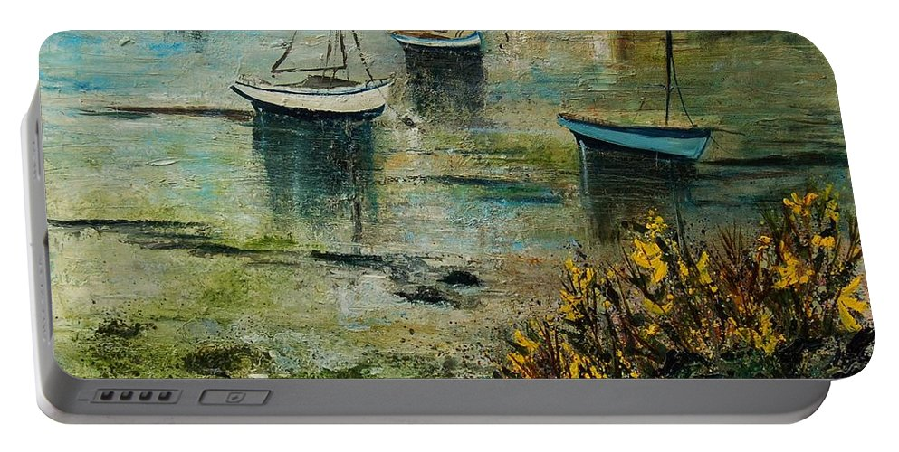 Seascape Portable Battery Charger featuring the print Seascape 78 by Pol Ledent