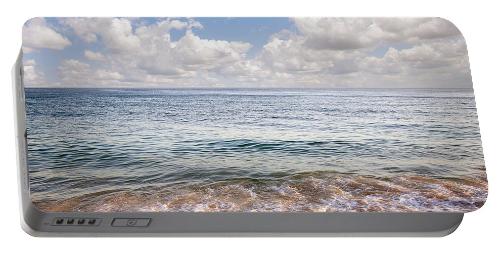 Background Portable Battery Charger featuring the photograph Seascape by Carlos Caetano