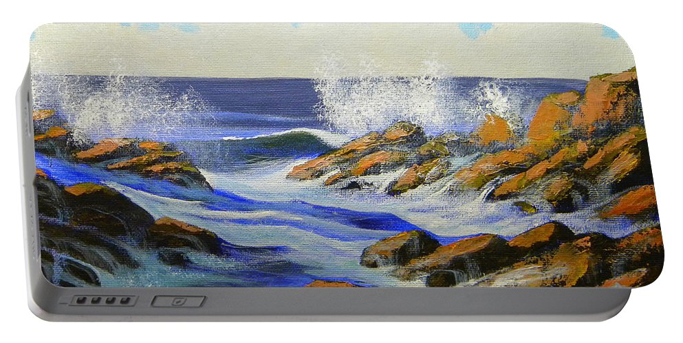 Seascape Portable Battery Charger featuring the painting Seascape Study 2 by Frank Wilson