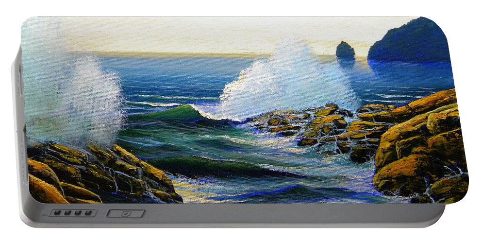 Seascape Portable Battery Charger featuring the painting Seascape Study 3 by Frank Wilson