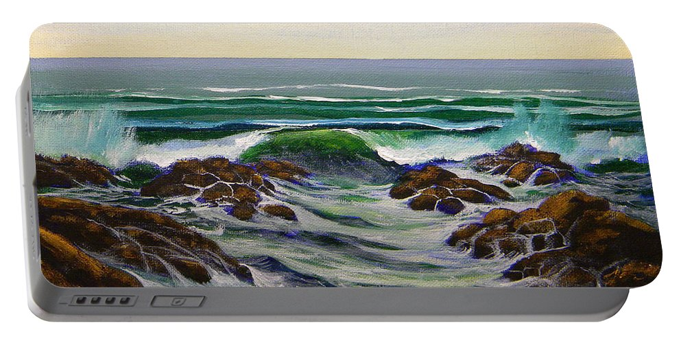 Seascape Portable Battery Charger featuring the painting Seascape Study 6 by Frank Wilson