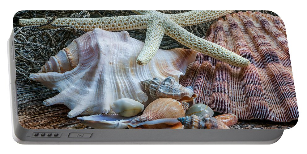 Seashell Portable Battery Charger featuring the photograph Seashells 2 by Randy Walton