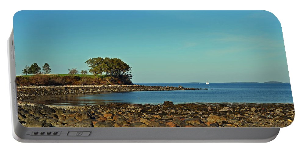 Seaside Portable Battery Charger featuring the photograph Seaside by Corinne Rhode