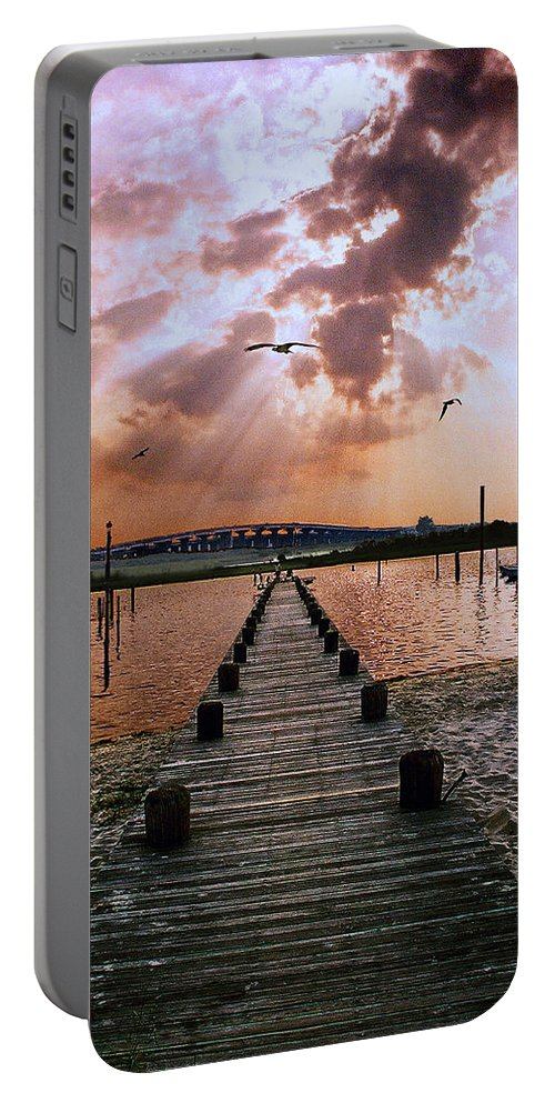 Seascape Portable Battery Charger featuring the photograph Seaside by Steve Karol