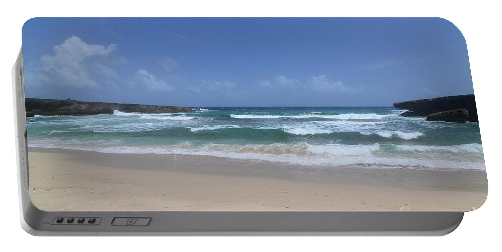 Boca Keto Portable Battery Charger featuring the photograph Secluded Remote Beach Of Boca Keto In Aruba by DejaVu Designs