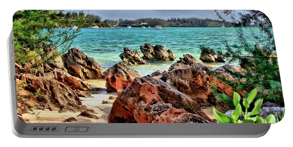 Bermuda Portable Battery Charger featuring the photograph Secret Cove by DJ Florek