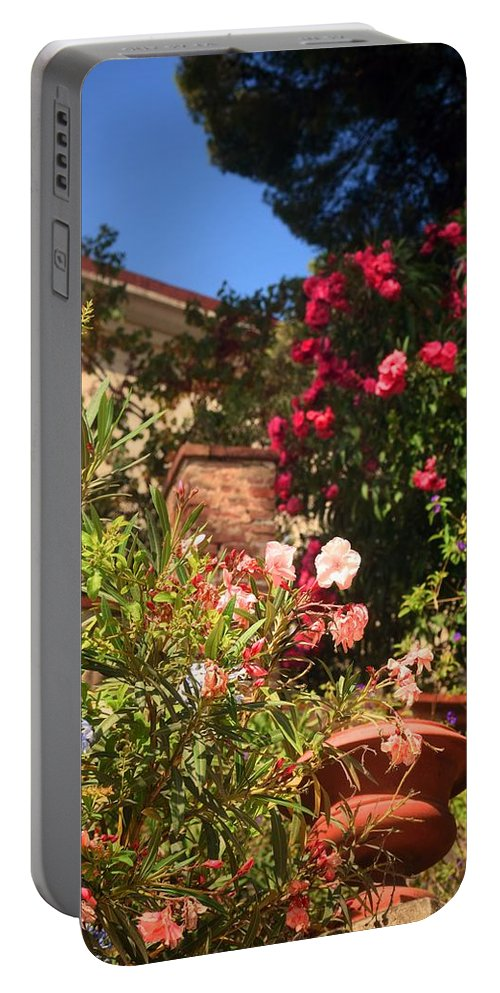 Flowers Portable Battery Charger featuring the photograph Secret Garden by Valerie Dauce