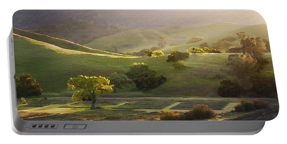 Landscape Portable Battery Charger featuring the photograph Sedgwick Sunrise by Sharon Foster