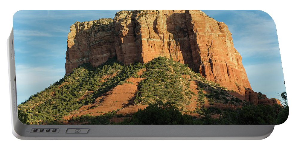Sedona Portable Battery Charger featuring the photograph Sedona Red Rocks by Charles Scrofano Jr