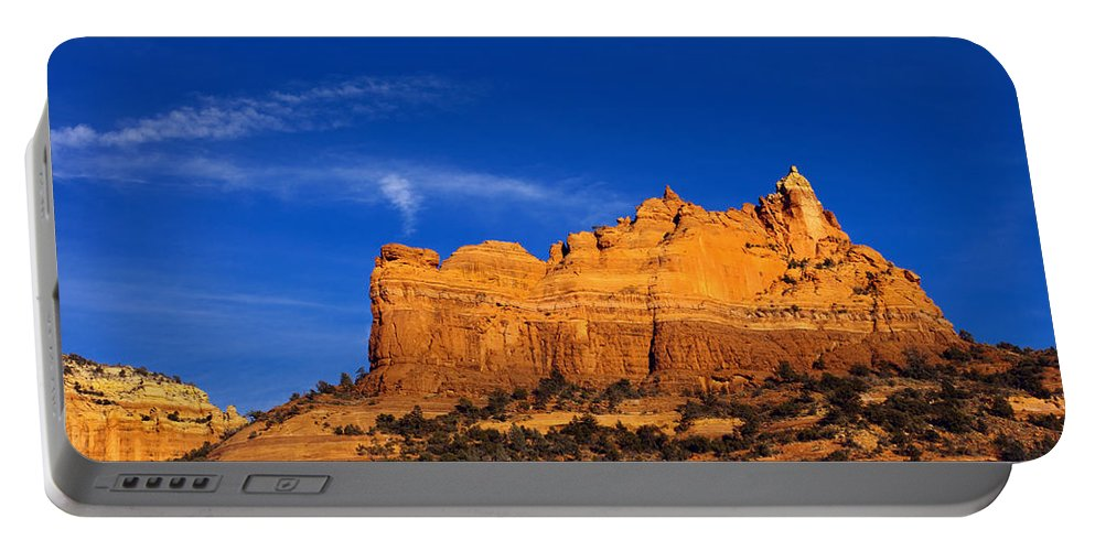 Sedona Portable Battery Charger featuring the photograph Sedona Smoke Signals by Mike Dawson