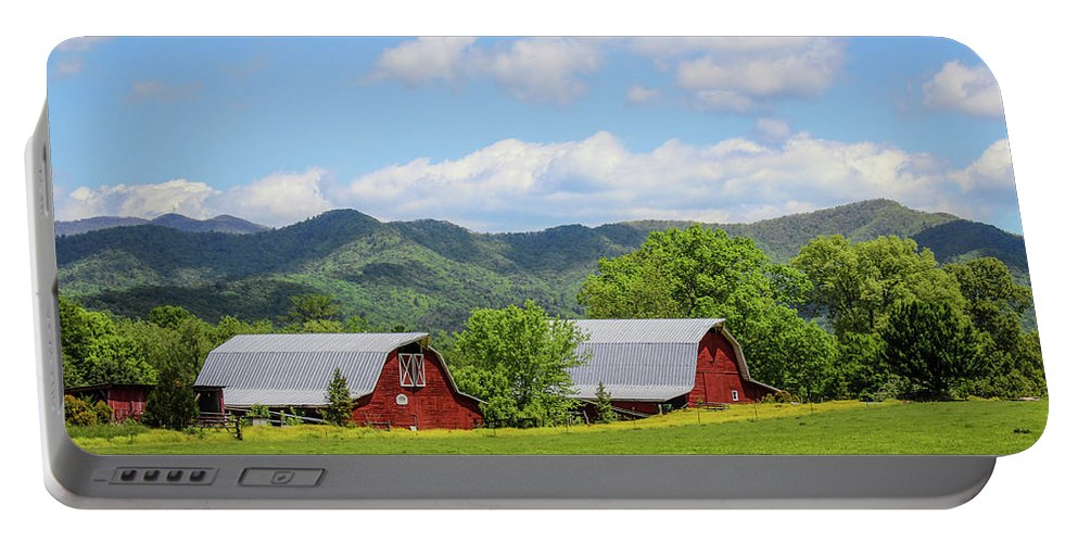 Barn Portable Battery Charger featuring the photograph Seeing Double by Lorraine Baum