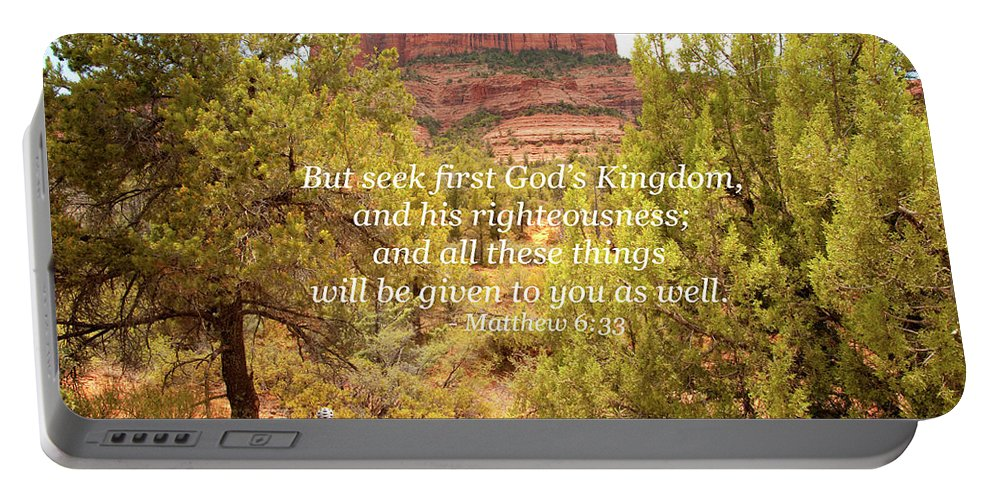 Landscape Portable Battery Charger featuring the photograph Seek First God's Kingdom by Kim Warden