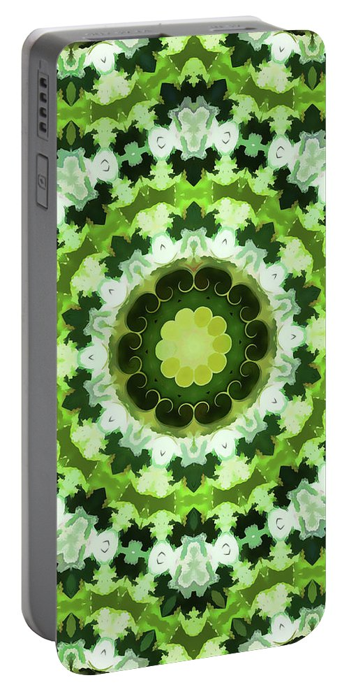 Mandala Art Portable Battery Charger featuring the painting Seek by Jeelan Clark