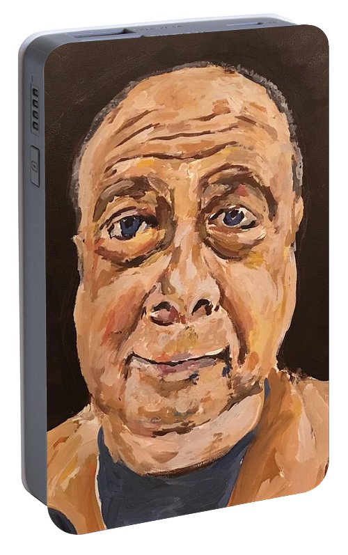 Norman Portable Battery Charger featuring the painting Self Portrait 2018 by Norman Burnham