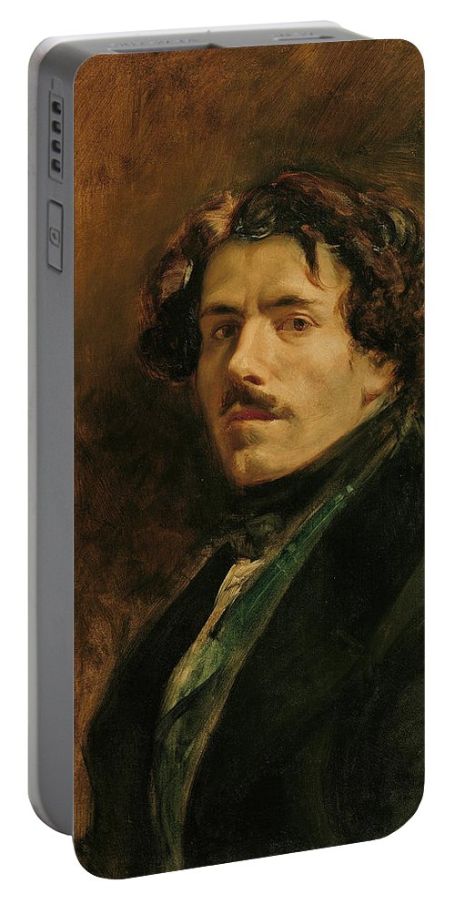 Eugene Delacroix Portable Battery Charger featuring the digital art Self Portrait by Mark Carlson