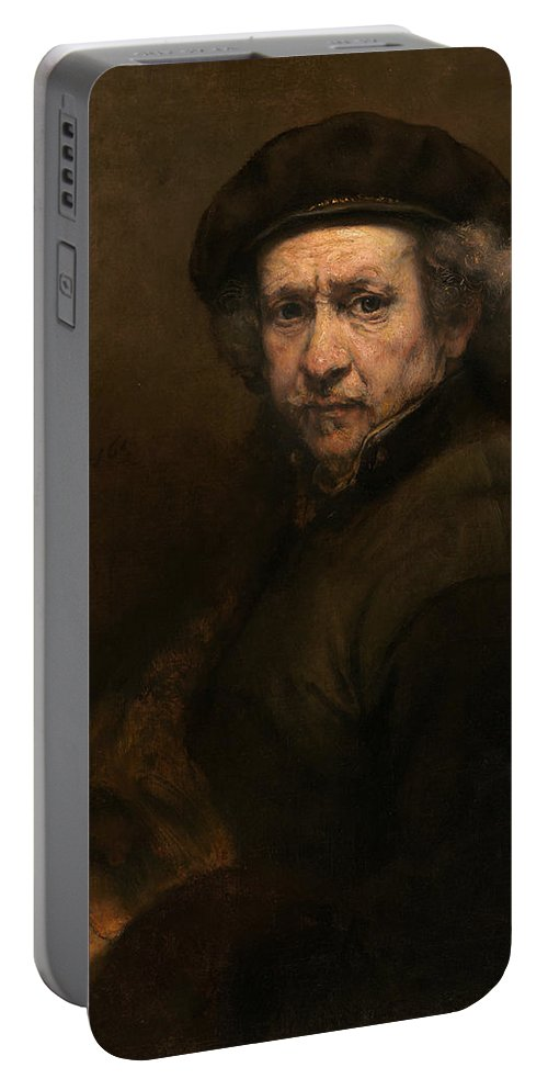 Rembrandt Portable Battery Charger featuring the painting Self-portrait by Rembrandt