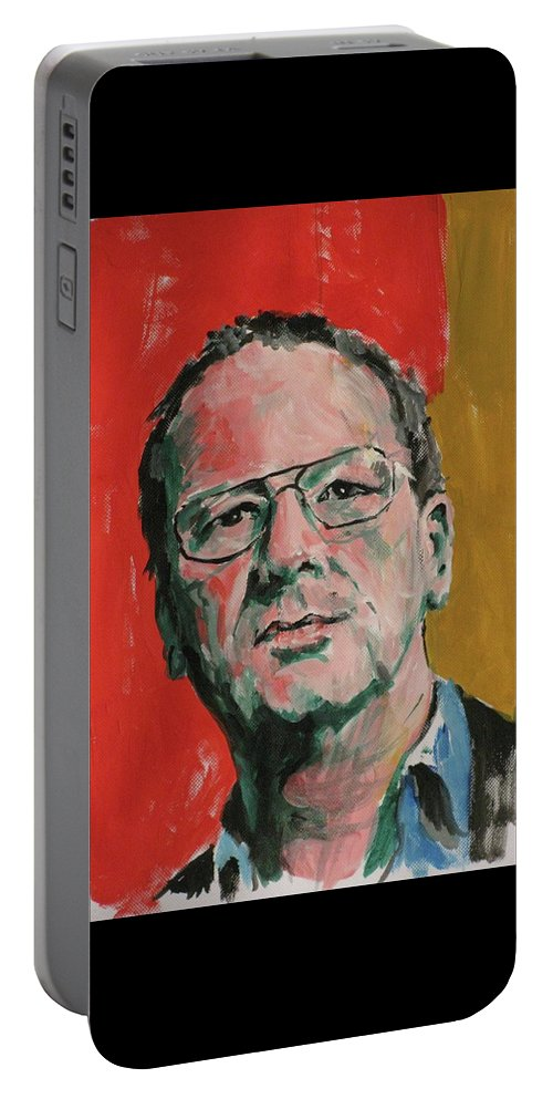 Portrait Portable Battery Charger featuring the painting Self Portrait by Richard Long