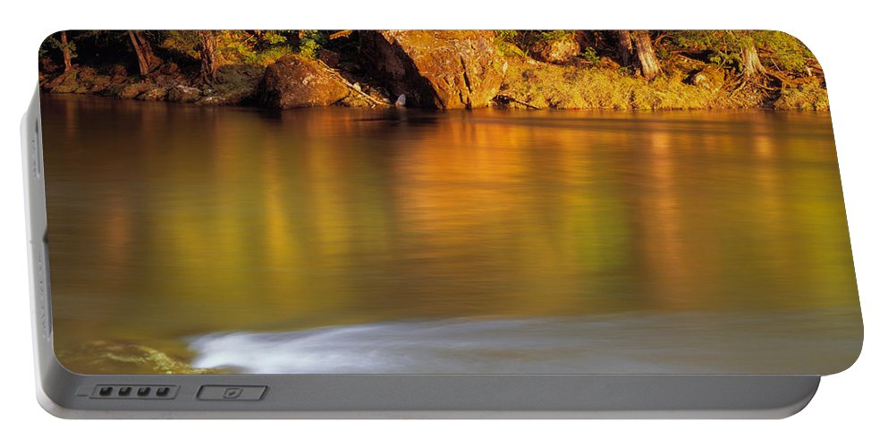 Selway River Portable Battery Charger featuring the photograph Selway River by Leland D Howard