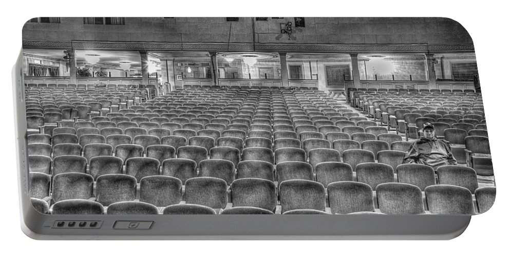 Portable Battery Charger featuring the photograph Senate Theatre Seating Detroit MI by Nicholas Grunas