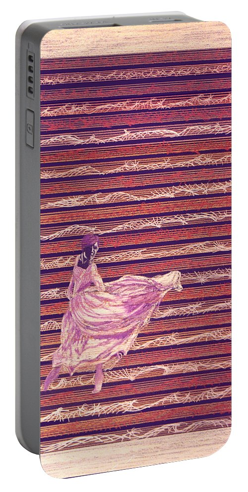Music Portable Battery Charger featuring the drawing Senorita Dance by Steve Karol