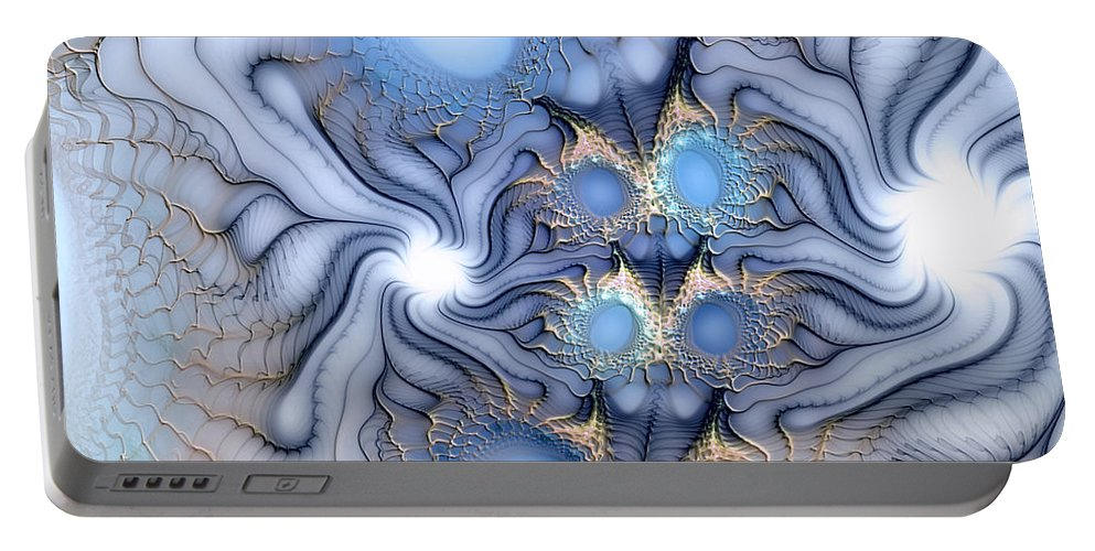Abstract Portable Battery Charger featuring the digital art Sensorial Seduction by Casey Kotas