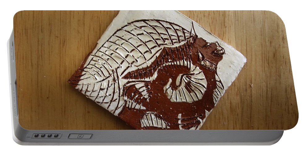 Jesus Portable Battery Charger featuring the ceramic art Sentinel - Tile by Gloria Ssali
