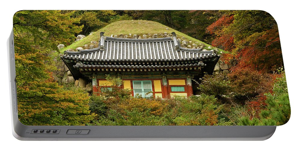 Asia Portable Battery Charger featuring the photograph Seokguram Grotto by Michele Burgess