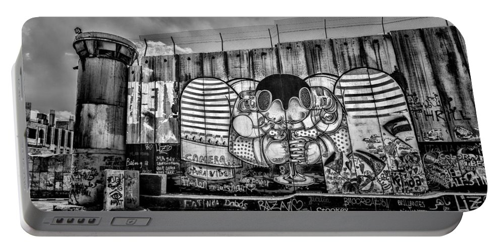 Graffiti Portable Battery Charger featuring the photograph Separation by Stephen Stookey