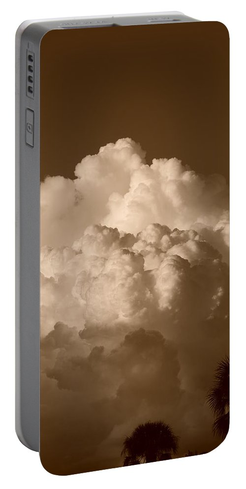 Sepia Portable Battery Charger featuring the photograph Sepia Clouds by Rob Hans