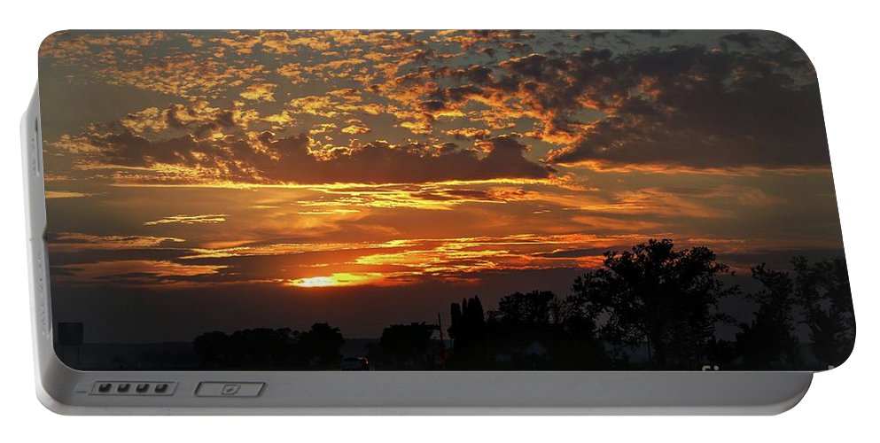 Sunset Portable Battery Charger featuring the photograph Sept Sunset by Yumi Johnson